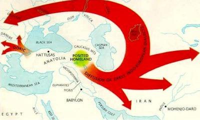 Spėjama arijų migracija: Arijai